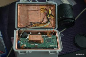 Inside of the camera box